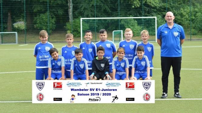 Mannschaftsfoto E1-Junioren (Saison 2019/2020)