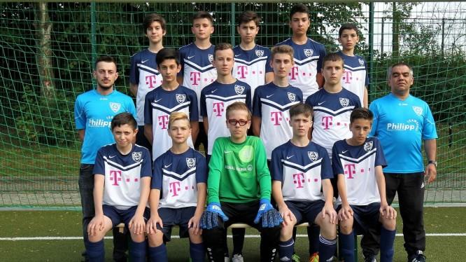 Mannschaftsfoto C1-Junioren (Saison 2017/2018)