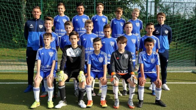 Mannschaftsfoto D2-Junioren (Saison 2017/2018)