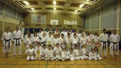 Die Teilnehmer der Karate Kyu-Grad-Prüfung im Winter 2012