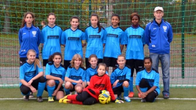Mannschaftsfoto Juniorinnen Jahrgang 2000/2001 (Saison 2014/2015)