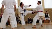 Kampfszene bei der Karate-Vereinsmeisterschaft 2013