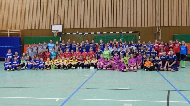 U13-Juniorinnen Jahrgang 2001/2002 bei den Hallenkreismeisterschaften 2014 in Hamm.