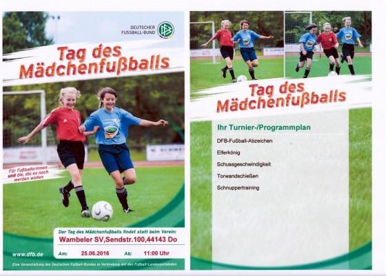 Tag des Mädchenfußballs - Flyer